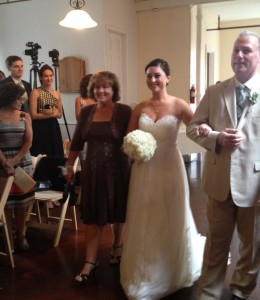 Janeace up the aisle